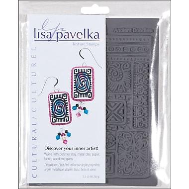 JHB Lisa Pavelka Stamp Set, 2/pkg, Cultural-Ancient Doodles & Ethnic Border