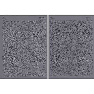 JHB Lisa Pavelka Stamp Set, 2/pkg, Flow-Foliage & Paisley