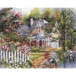 """Plaid:Craft 16"""" x 20"""" Non-toxic Paint By Number Kit, Victorian Garden (216-76)"""