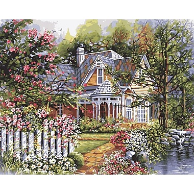 Plaid:Craft Paint By Number Kit, 16in. x 20in., Victorian Garden