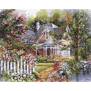 "Plaid:Craft 16"" x 20"" Non-toxic Paint By Number Kit, Victorian Garden (216-76)"