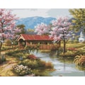 Plaid:Craft Paint By Number Kit, 16in. x 20in., Covered Bridge