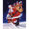 Plaid:Craft Paint By Number Kit, 16in. x 20in., A Visit From Santa