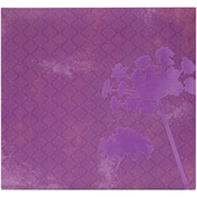 MBI Flocked Album, 12 x 12, Purple Flower