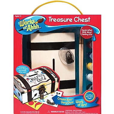 Masterpieces Works Of Ahh Wood Paint Kit, Treasure Chest Bank