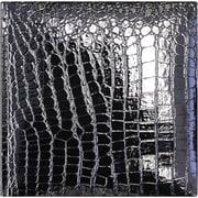 Amanda Blu Faux Croc 2 Up Photo Album, 8.5 x 8.5, Black