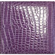 Amanda Blu Faux Croc 2 Up Photo Album, 8.5 x 8.5, Purple