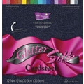 Darice Core'dinations Glitter Silk Cardstock Assortment, 12in. x 12in.