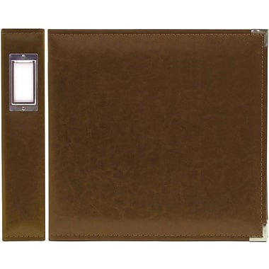 We R Memory Keepers We R Faux Leather 3-Ring Binder, 12in. x 12in., Dark Chocolate