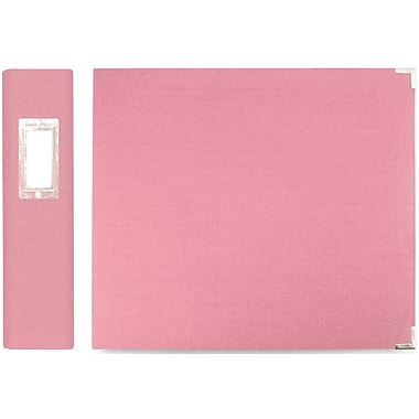 We R Memory Keepers We R Linen 3-Ring Binder, 8in. x 8in., Bubble Gum