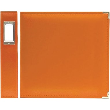 We R Memory Keepers Faux Leather 3-Ring Binder, 8.5in. x 11in., Orange Soda