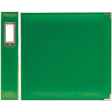 We R Memory Keepers Faux Leather 3-Ring Binder, 8.5in. x 11in., Clover