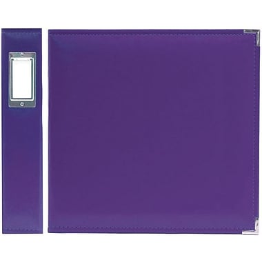 We R Memory Keepers Faux Leather 3-Ring Binder, 8.5in. x 11in., Grape Soda