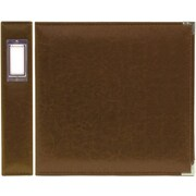 We R Memory Keepers Faux Leather 3-Ring Binder, 8.5 x 11, Dark Chocolate