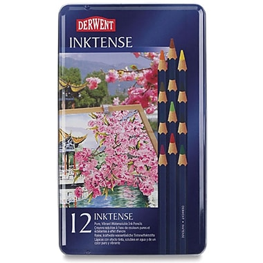 Reeves Derwent Inktense Pencil Set, 12/Tin