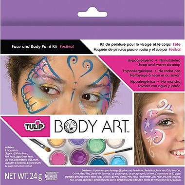 Duncan Tulip Body Art Face & Body Paint Kits, Festival