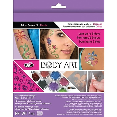 Duncan Tulip Body Art Glitter Tattoo Kit, Classic