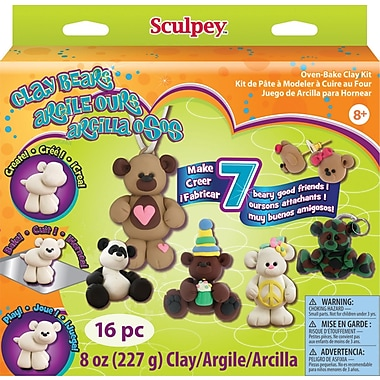 Polyform Sculpey Clay Activity Kit, Clay Bears