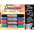 Sakura Permapaque Paint Marker Dual Point, Black/Red/Blue/Green