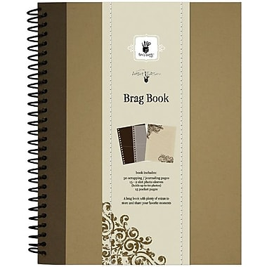 Fancy Pants Artist Edition Spiral Brag Book, Brown