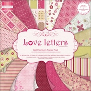 Trimcraft Premium Paper Pad, 8 x 8, Love Letters