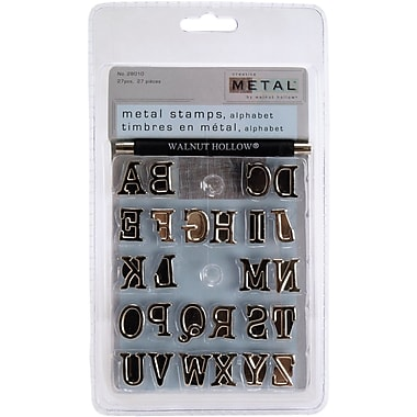 Walnut Hollow Metal Stamps, 26/Pkg, Alphabet