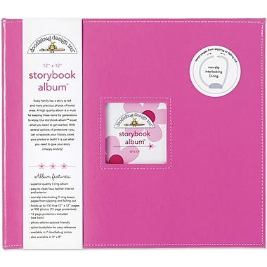 Doodlebug Storybook Album, 12in. x 12in., Bubblegum