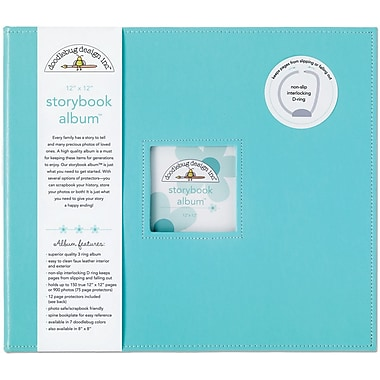 Doodlebug Storybook Album, 12in. x 12in., Swimming Pool