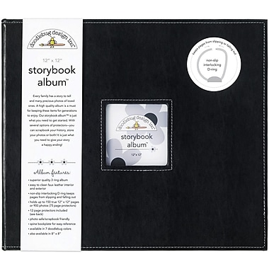Doodlebug Storybook Album, 12in. x 12in., Beetle Black