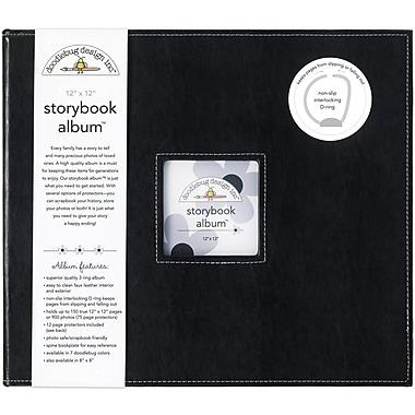 Doodlebug Storybook Album, 12in. x 12in., Beetle Black