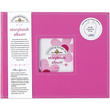 Doodlebug Storybook Album, 8in. x 8in., Bubblegum