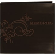"Pioneer Embroidered Scroll Leatherette Postbound Album, 12"" x 12"", Brown"