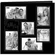 Pioneer Collage Frame Sewn Embossed Cover Postbound Album, 12in. x 12in., Black/Family