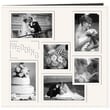 Pioneer Collage Frame Sewn Embossed Cover Postbound Album, 12in. x 12in., White/Wedding