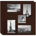 Pioneer 5-Up Collage Frame Sewn Embossed Photo Album, Brown