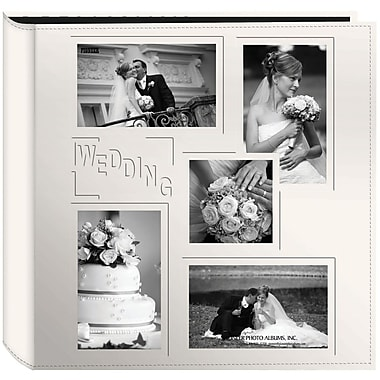 Pioneer 5-Up Collage Frame Sewn Embossed Photo Album, Ivory