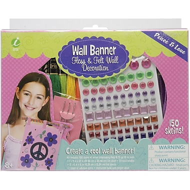 Iris Wall Banner Kit, Peace & Love