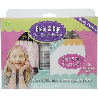 Iris Braid & Dye Floss Bracelet Boutique, Pretty Pastels