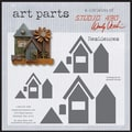 Stampers Anonymous Wendy Vecchi Chipboard Art Parts, 15/Pkg, Residences