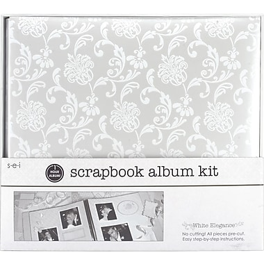 SEI 1 Hour Album Scrapbook Kit, 12in. x 12in., White Elegance