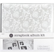 "SEI 1 Hour Album Scrapbook Kit, 12"" x 12"", White Elegance"