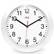 Infinity Instruments 90/0010-2 Intrinsic Resin Analog Wall Clock, White