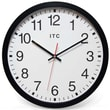 Infinity Instruments 90/0014-1 Obsidian Plastic Analog Wall Clock, Black
