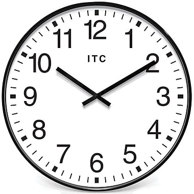 "Infinity Instruments Profuse 19"" Black Business Wall Clock"