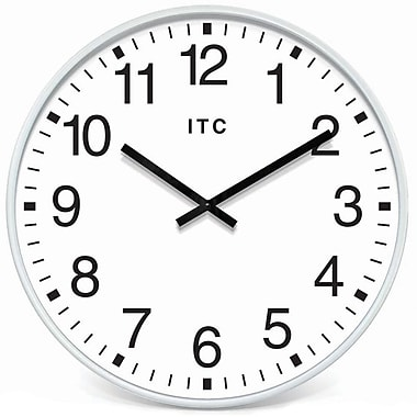"Infinity Instruments Profuse 19"" White Business Wall Clock"