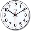Infinity Instruments 90/1201 Prosaic Resin Analog Wall Clock, Black