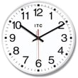 Infinity Instruments 90/1202 Prosaic Resin Analog Wall Clock, White