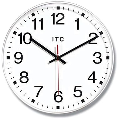 Infinity Instruments Prosaic Business Wall Clocks, White