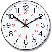 Infinity Instruments 90/1224-1 Prosaic Resin Analog Wall Clock, Black