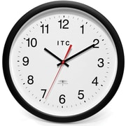 Infinity Instruments 90/RC14-1 Time Keeper Resin Analog Wall Clock, Black